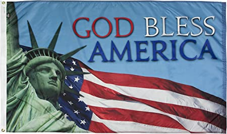 Amazon.com : FlagSource God Bless America Nylon Decorative Flag, Made in  The USA, 3x5' : Garden & Outdoor