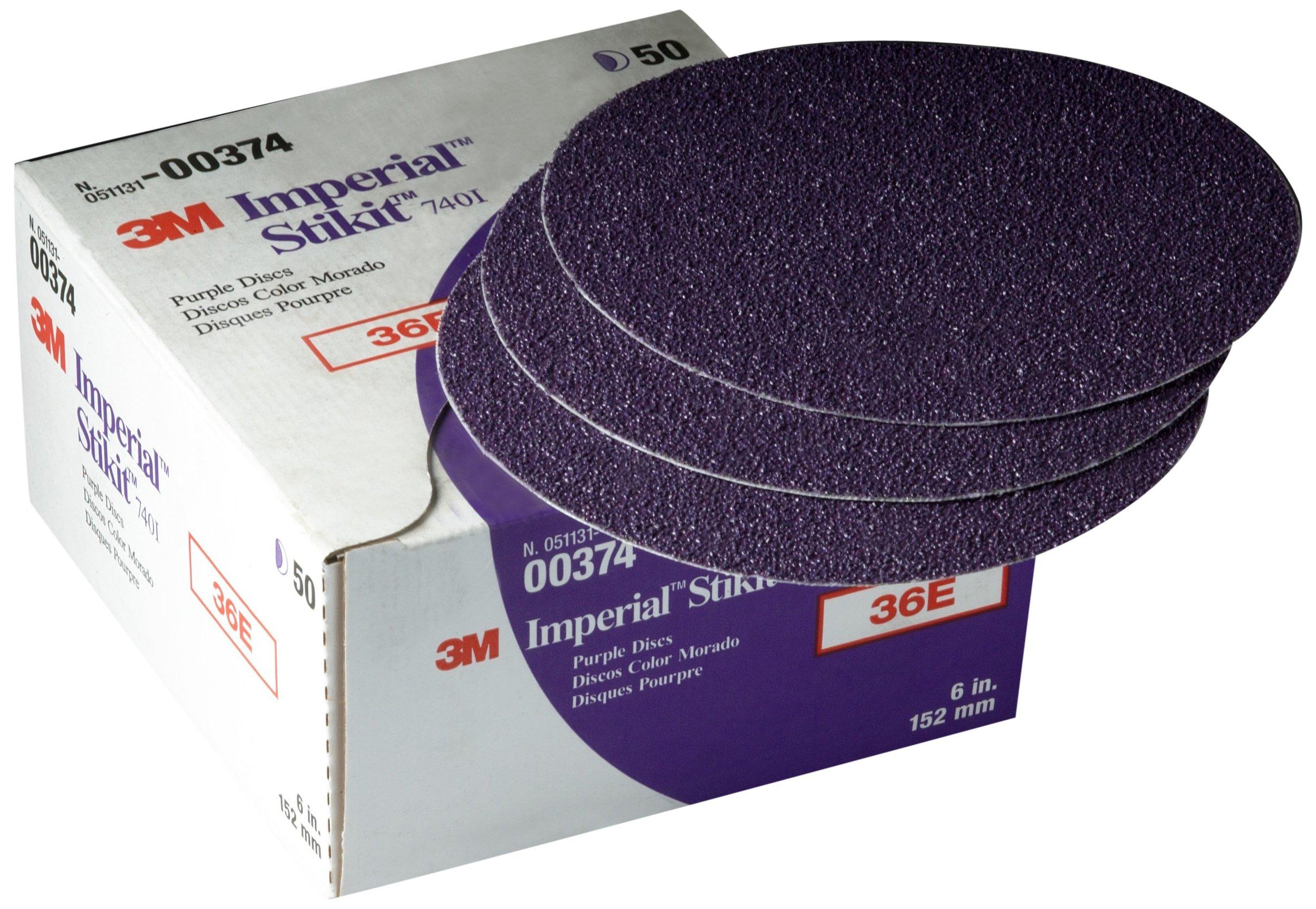 3M 00374 Imperial Stikit 6'' 36E Grit Disc