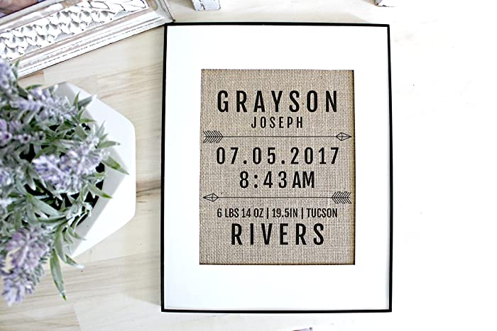 Image Unavailable. Image not available for. Color Personalized baby gift ...  sc 1 st  Amazon.com & Amazon.com: Personalized baby gift custom baby name sign birth ...