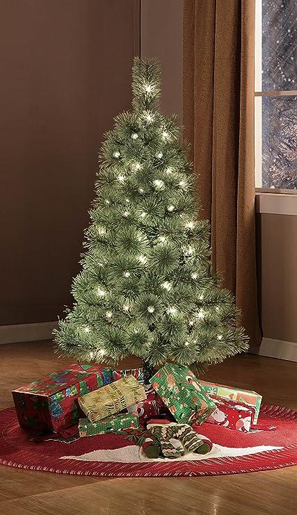 pre lit 4 cashmere artificial christmas tree clear lights christmas outdoor laser - Outdoor Artificial Christmas Tree