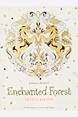 Enchanted Forest Artist's Edition: 20 Drawings to Color and Frame Paperback