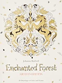 Enchanted Forest Artists Edition 20 Drawings To Color And Frame