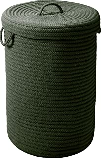 """product image for Simply Home Hamper w/lid - Dark Green 18""""x18""""x30"""""""