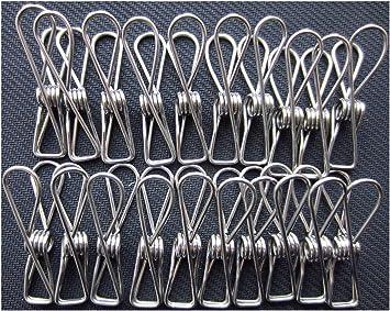 Alambre de acero Clips de clips-lebeila tendedero, tendedero de acero inoxidable pinzas para colgar Clips de utilidad multiusos pinzas para tender la ropa, ...
