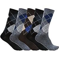 S.S Enterprises Men's Cotton Socks Multicolour_Free Size (Pack of 5)