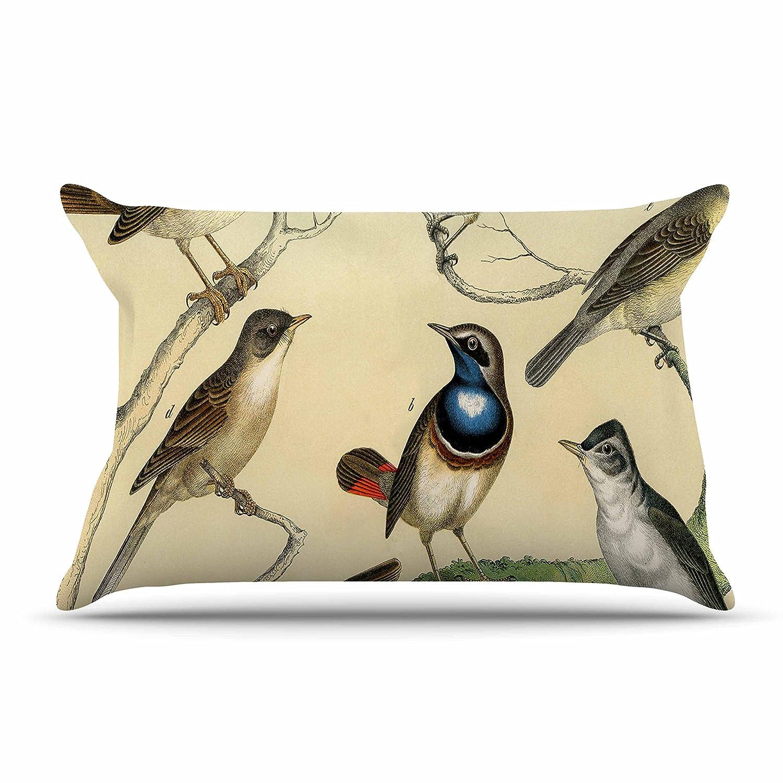 Kess InHouse Suzanne Carter Vintage Birds Featherweight Sham 30 X 20