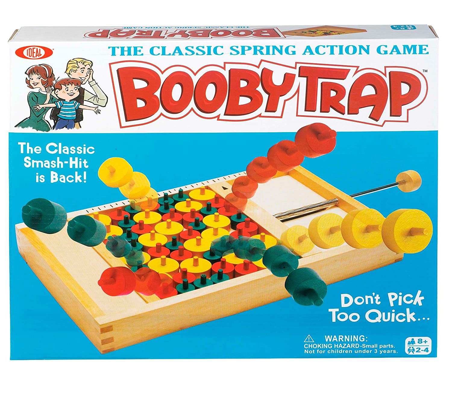 Amazon.com: Ideal Booby Trap Classic Wood Game: Toys & Games