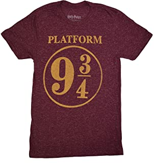 cdd48353 Amazon.com: 9 3/4 Nine Three Quarters Harry Potter Hogwarts T-Shirt ...