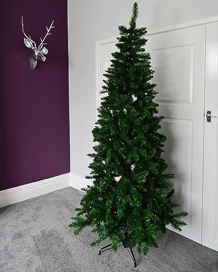 Tall Slim Christmas Tree.7ft 210cm New Foundland Slim Pine Christmas Tree With 918 Tips