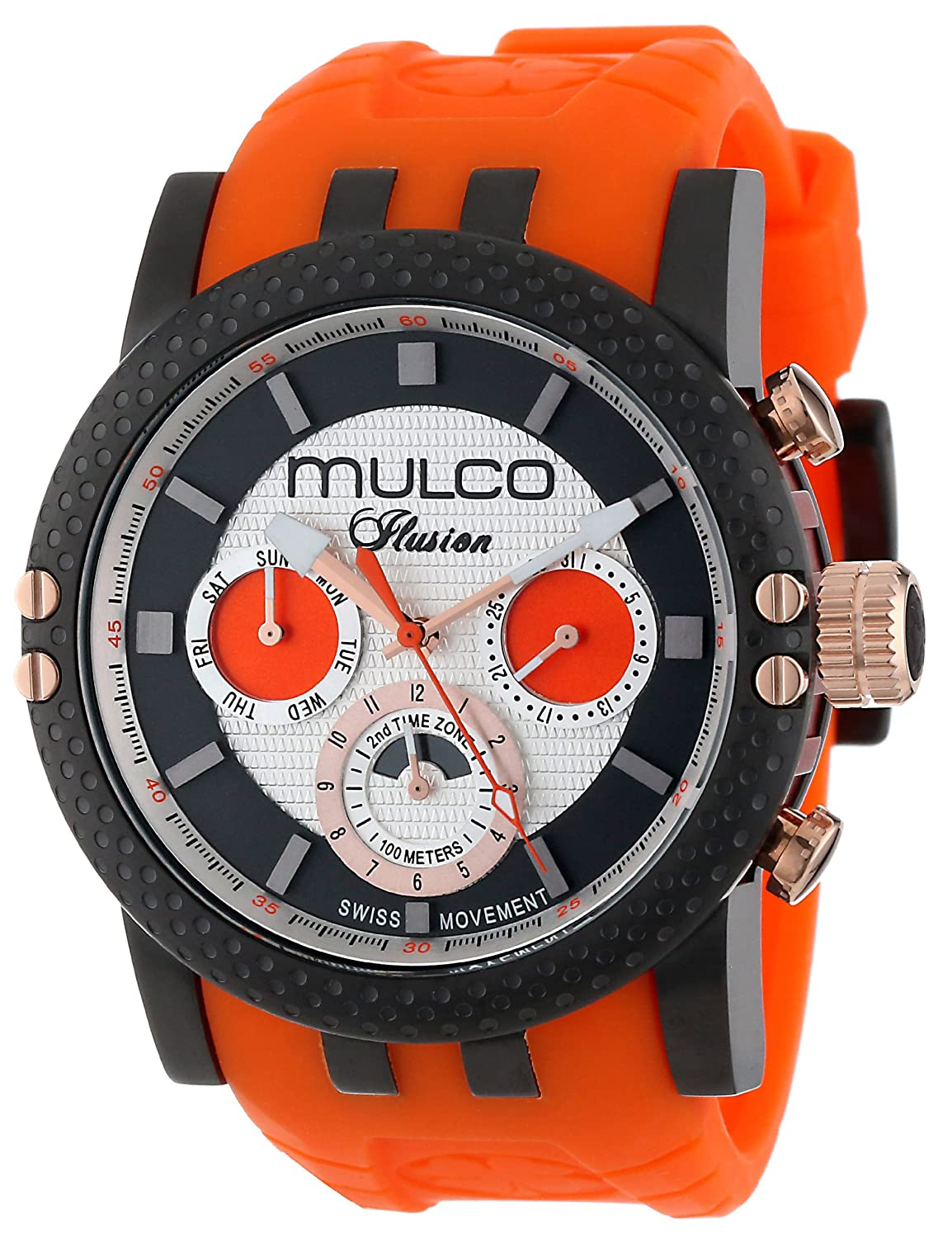 MULCO Unisex MW3-11169-305 Lincoln Illusion Chronograph Analog Swiss Movement Uhr