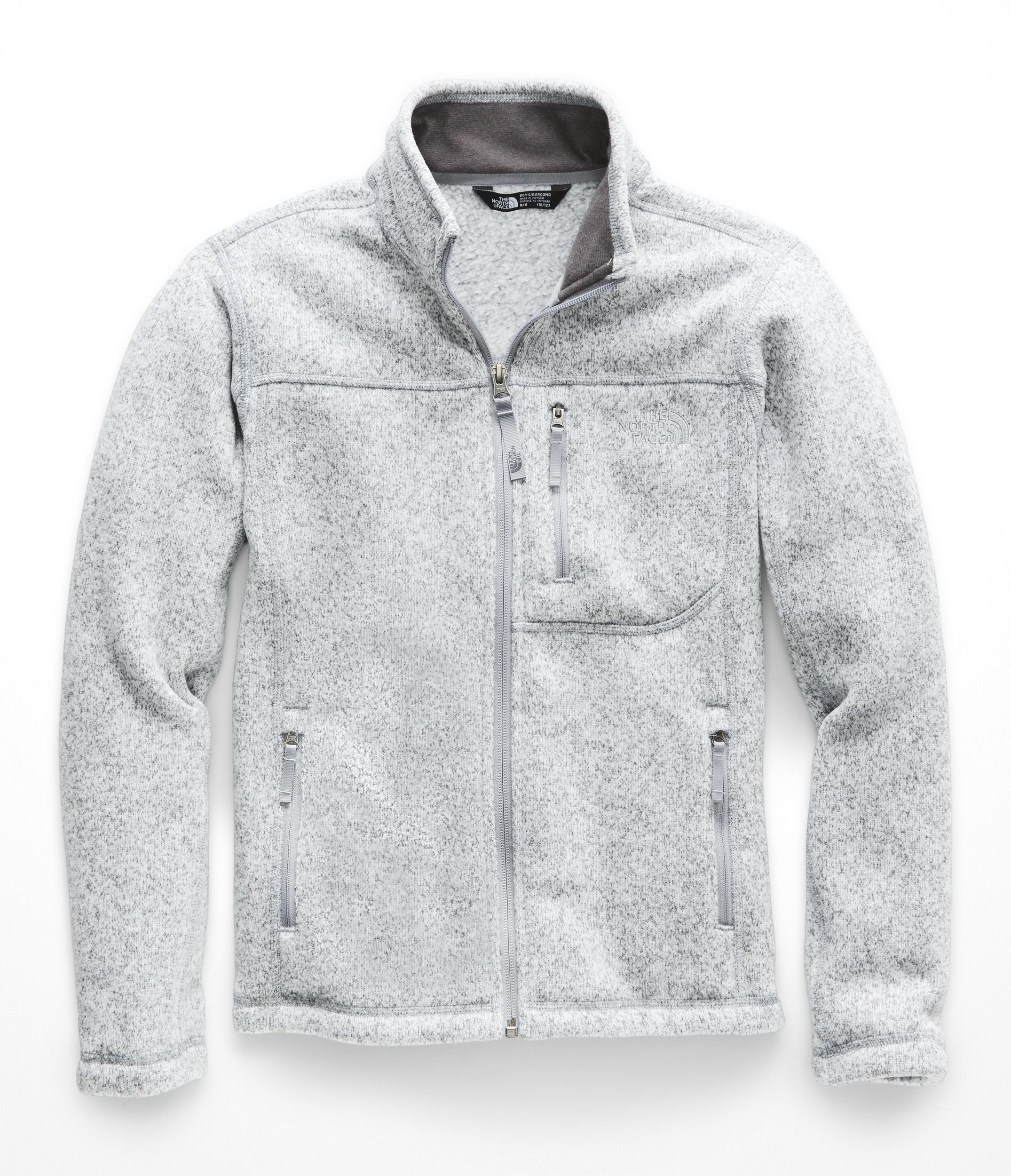 The North Face Kids Boy's Gordon Lyons Full Zip (Little Kids/Big Kids) TNF Light Grey Heather/Mid Grey Small