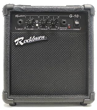 RockBurn BC-10S-BK - Amplificador para guitarra eléctrica