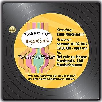 10 X Schallplatte Einladungskarten Geburtstag Scheibe Musik LP CD Kassette  10 Stück