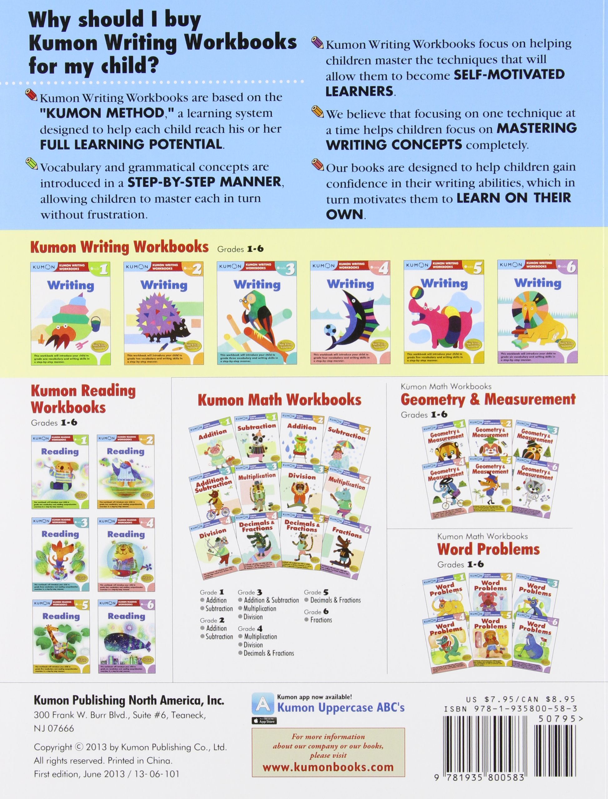 Grade 2 Writing (Kumon Writing Workbooks): Kumon Publishing ...