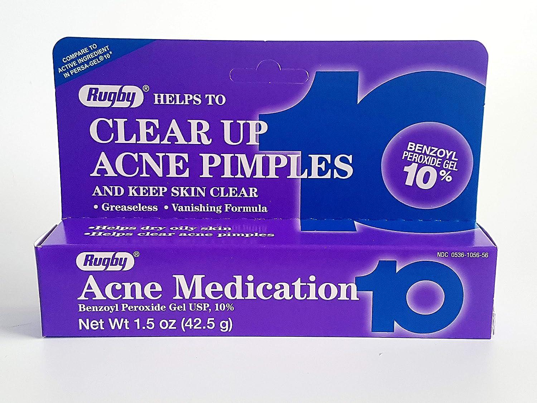 RUGBY BENZOYL PEROXIDE ACNE MEDICATION 1.5 oz per Tube