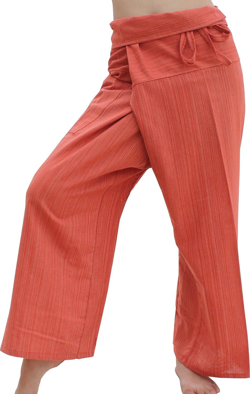 Raan Pah Muang PANTS レディース B07FSVB5TB X-Large|Orange Brown Orange Brown X-Large