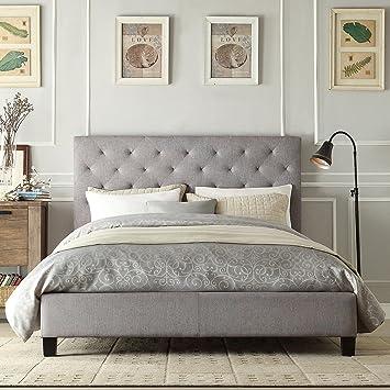 Amazon.com - Modern Diamond Gray Button Tufted Upholstered Padded