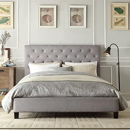 Amazon Com Modern Diamond Gray Button Tufted Upholstered Padded