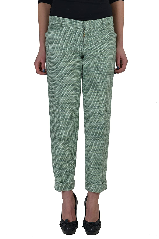 Dsquared2 Women's Multi-Color Flat Front Cropped Pants US 4 IT 40