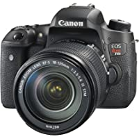 Canon EOS Rebel T6s 24.2MP Full HD Digital SLR Camera with 18-135mm IS STM Lens, Built-in Wi-Fi and NFC (Black) - Refurbished