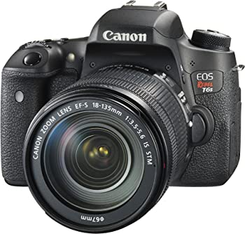 Canon EOS Rebel T6s 24.2MP DSLR with 18-135mm IS STM Lens