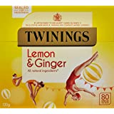 Twinings Revive and Revitalise Lemon and Ginger Tea Bags 120g, 80 Tea Bags