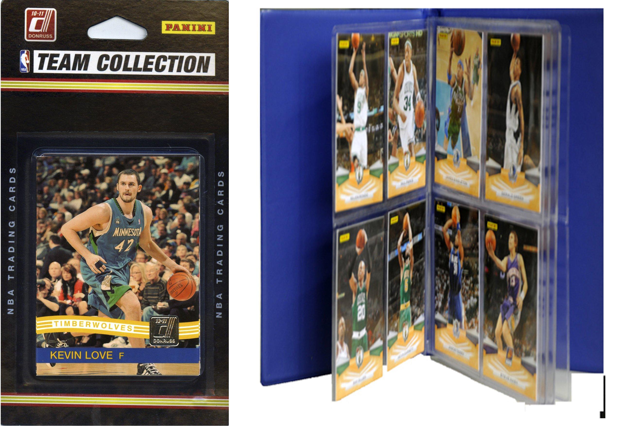 C&I Collectables NBA Minnesota Timberwolves Licensed 2010-11 Donruss Team Set Plus Storage Album
