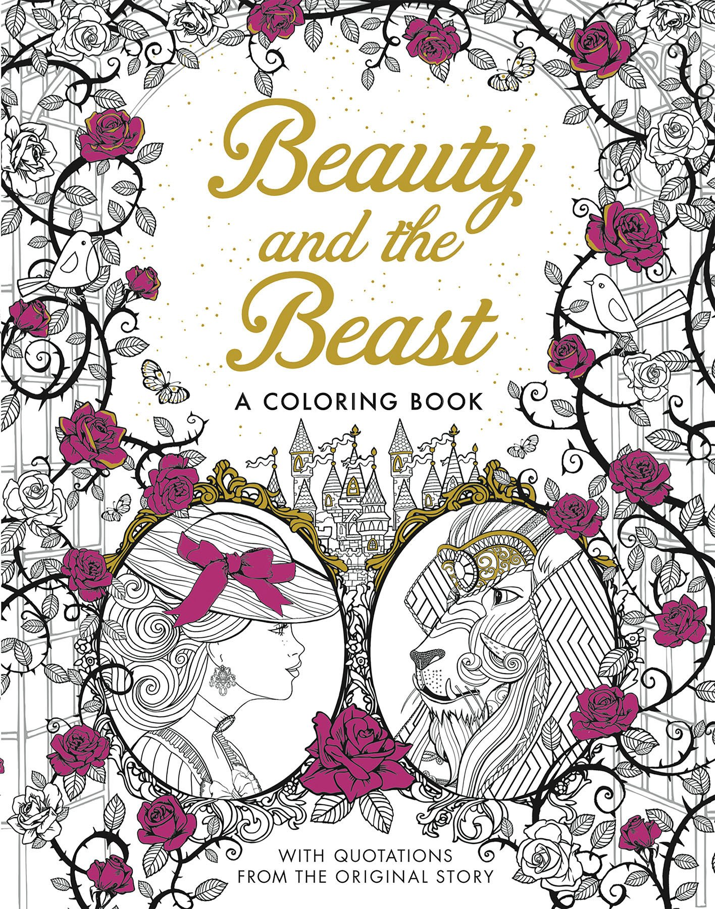 Beauty And The Beast A Coloring Book Classic Gabrielle Suzanne Barbot De Villeneuve 9781626868854 Amazon Books