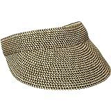 San Diego Hat Company Women's Ultrabraid Visoe with Stretch Sweatband and Velcro Closure