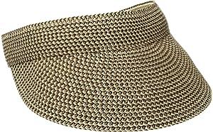 2605ab5f215 San Diego Hat Company Women s 4-inch Brim Wheat Straw Visor