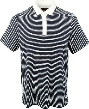 Michael Kors Mens Lightweight Striped Polo Shirt-M-M: Amazon.es ...