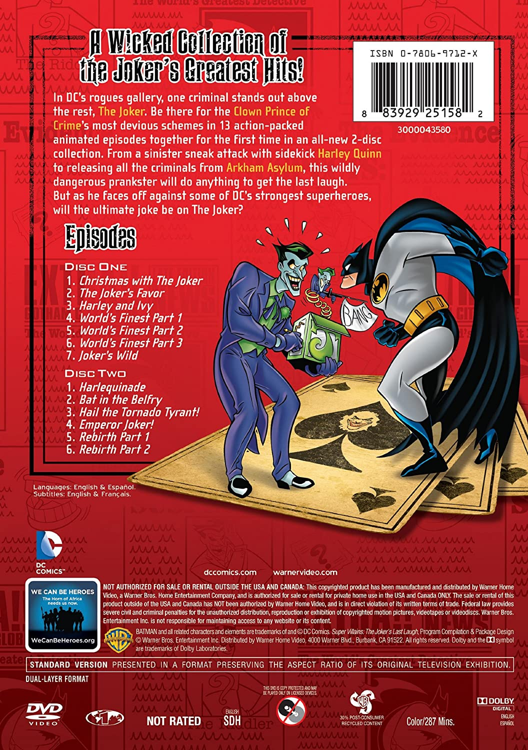 Amazon com: Super Villains: The Jokers Last Laugh: Various