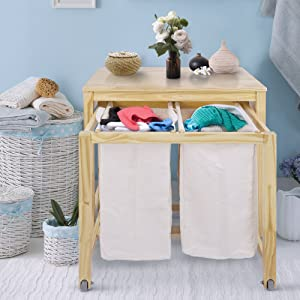 Casual Home 761-30 Eco Home Laundry Prep Hamper, Natural
