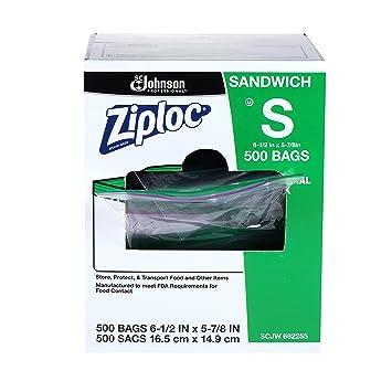 Amazon.com: Ziploc Sandwich Bolsa 500 ct, 1, 1: Health ...