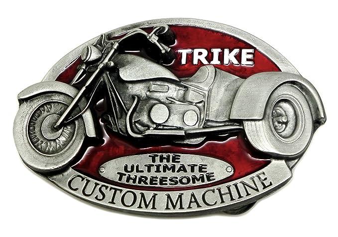 5b2af6ecf370 Trike Boucle de Ceinture - Custom Machine Conception En Rouge - Authentique  Dragon Designs Produit de