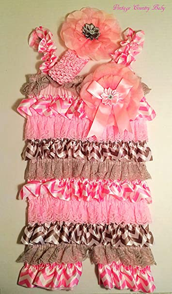 6354c354554 Image Unavailable. Image not available for. Color  Baby Lace Romper and  Headband- Baby Cake Smash Birthday ...