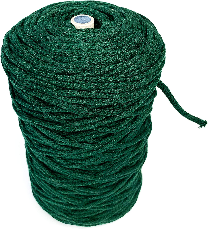 100/% nat/ürliche Baumwolle Rolle//makramee garn//Pflanzenaufh/änger Inwood Eco makramee garn Makramee-Bastelschnur 3 mm// 200m Original spanisches Garn Sand Wandbehang