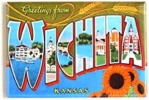 Greetings from Wichita Kansas Fridge Magnet (2 x 3 inches)