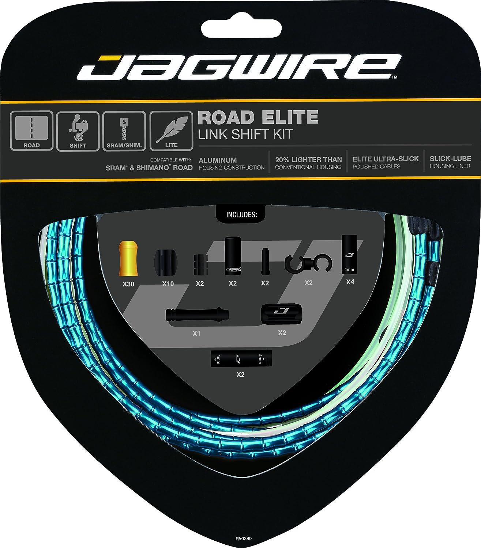 Jagwire Road Elite Link Shiftケーブルキット B01MZ5WOHO One Size ブルー ブルー One Size