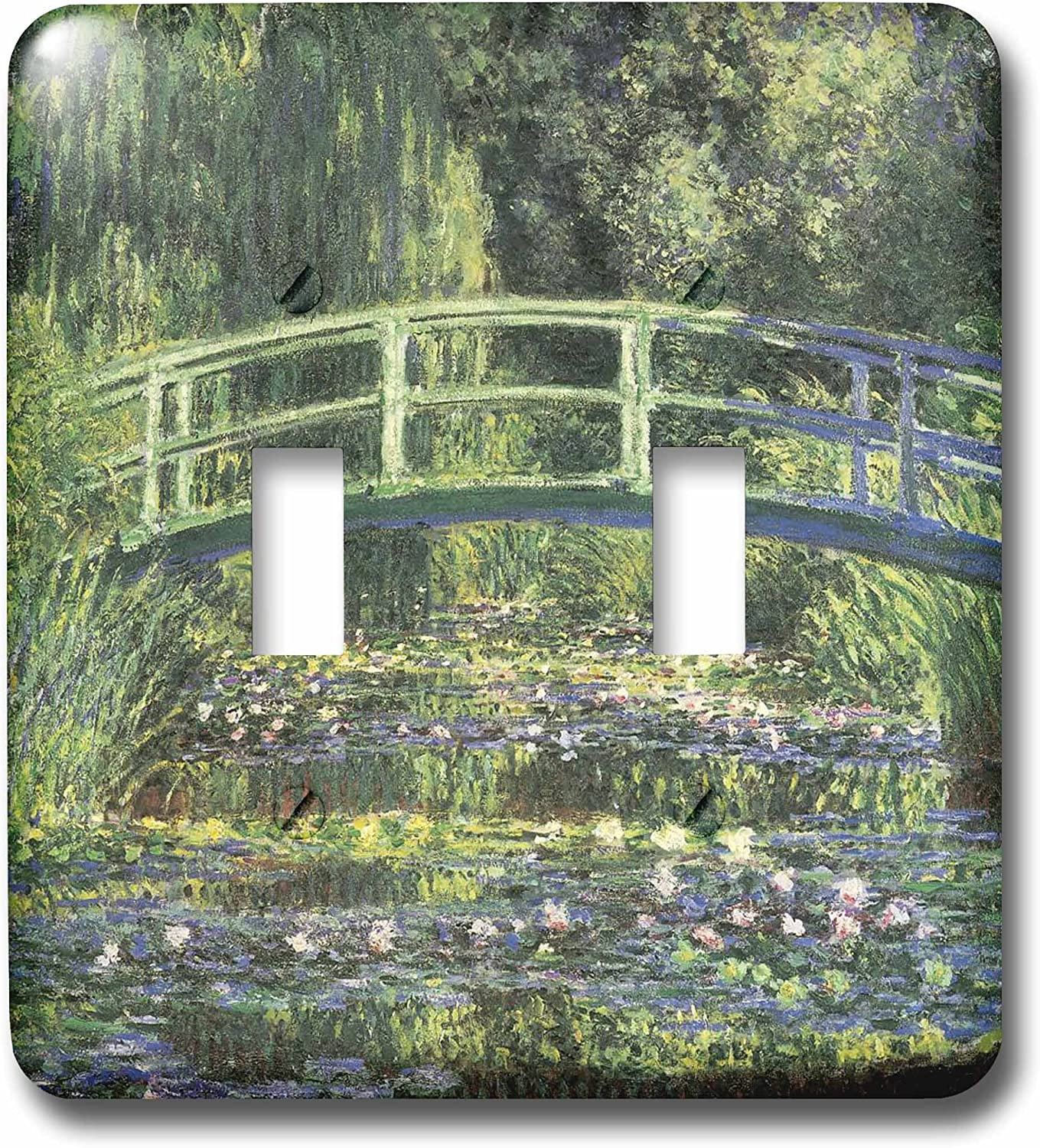 3dRose lsp/_164669/_1 Water Lilies and Japanese Bridge Monet Vintage Light Switch Cover