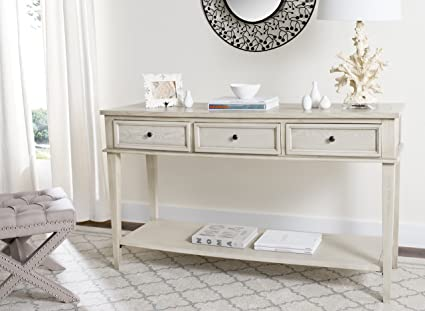 Ordinaire Safavieh American Homes Collection Manelin White Washed Console Table