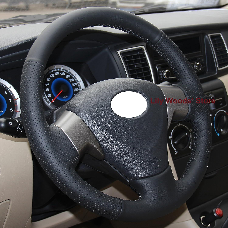 Specific Steering Wheel Cover Sew Wrap for Toyota Corolla L XLE Sedan 2009-13 12