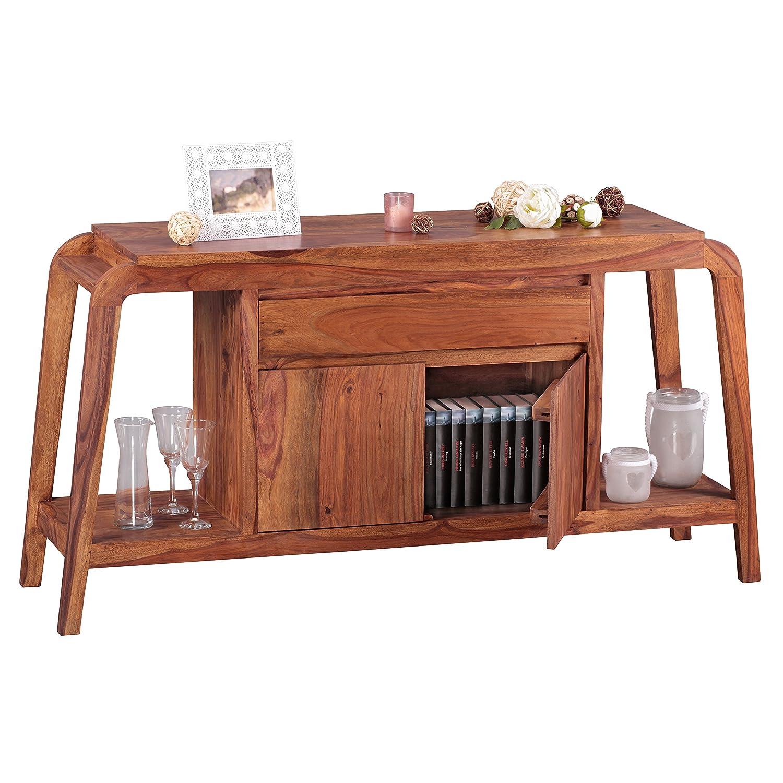 Wohnling Sideboard Massivholz Sheesham Kommode 150 Cm 1 Schublade 1