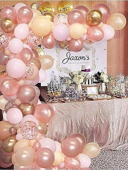 Gold Garland Spooky Wedding Decor Photo Prop Silver Pumpkin Decor Halloween Party Drama Queen Rose Gold Halloween Balloons Bridal