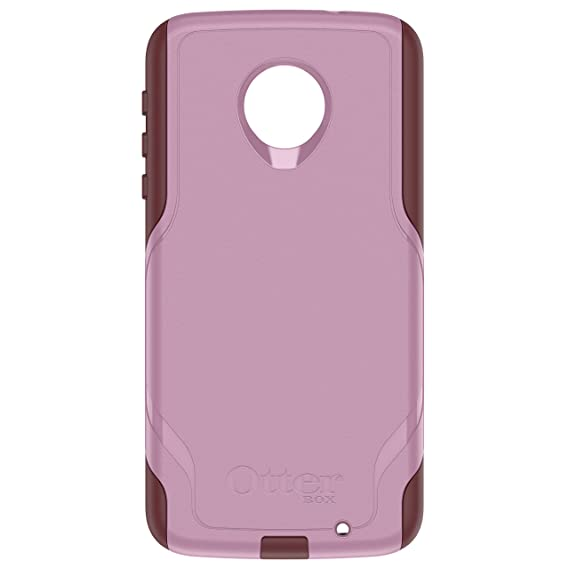 meet 9e2a2 f8a0a OtterBox Commuter Series Case for Motorola Moto Z Force Droid Edition -  Retail Packaging - Mauve Way (Mauve Pink/Merlot Purple)