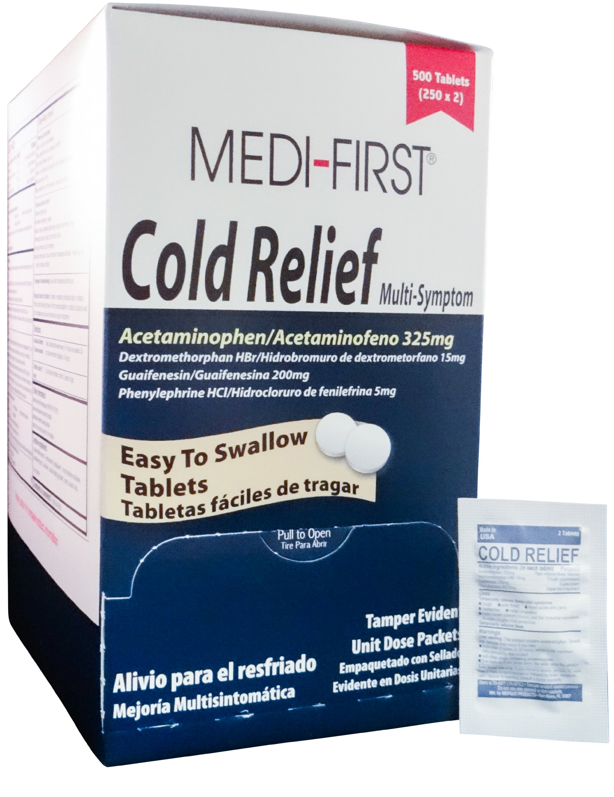 Medique/Medi-First Multi Symptom Cold Relief Coated Tablets - MS71143 (3,000)