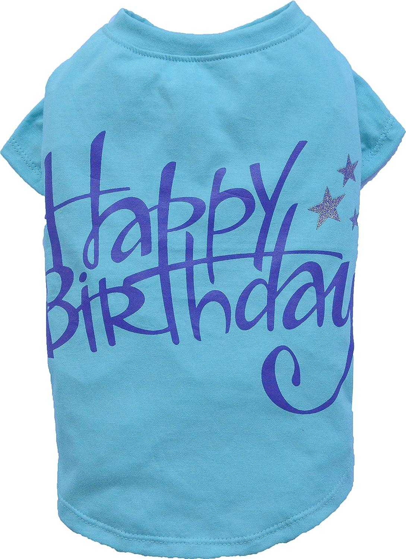 Doggy Dolly T471 Dog Shirt Happy Birthday Blue Size XS