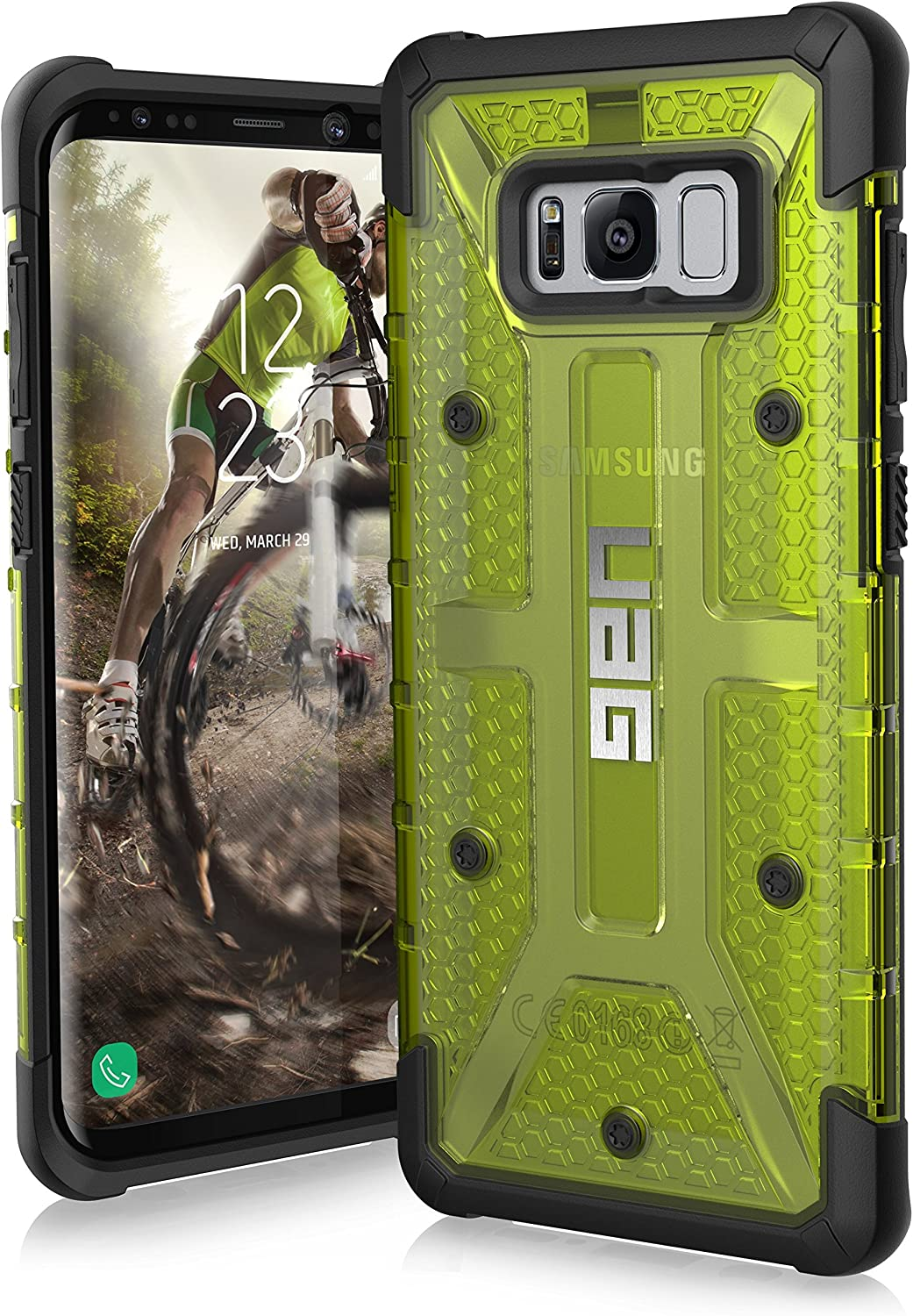 UAG Samsung Galaxy S8+ [6.2-inch screen] Plasma Feather-Light Rugged [CITRON] Military Drop Tested Phone Case