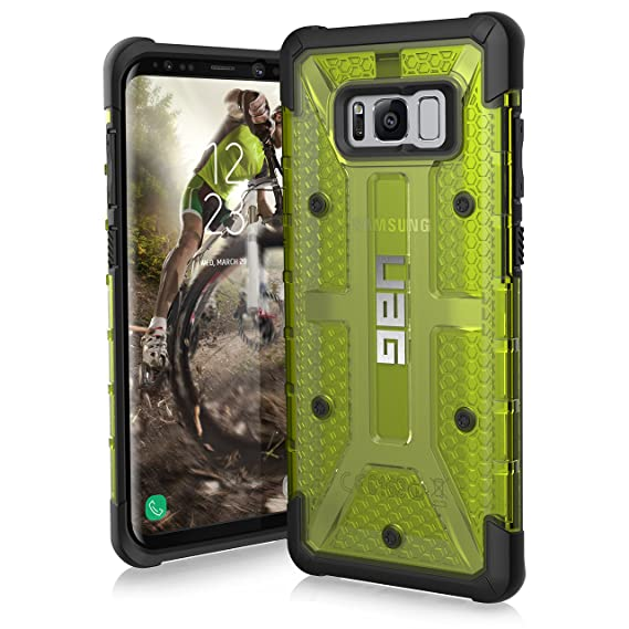 on sale 8fd22 03be1 UAG Samsung Galaxy S8+ [6.2-inch screen] Plasma Feather-Light Rugged  [CITRON] Military Drop Tested Phone Case