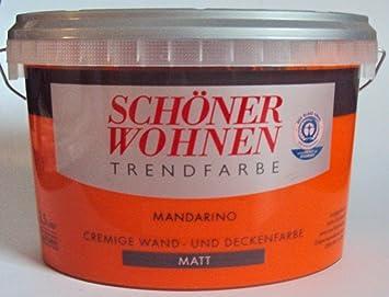 2 5 L Schoner Wohnen Trendfarbe Cremige Wandfarbe Mandarino Matt